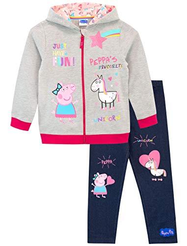 Peppa Pig Conjunto de Sudadera con Capucha y Leggings para Niñas Unicornio Multicolor 4-5 Años
