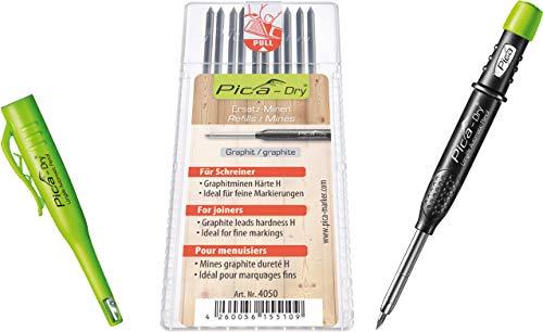 Pica-Marker - Pica-Dry - Marcador Automático de Larga duración 3030 - Paquete con 10 marcadores de grafito 4050