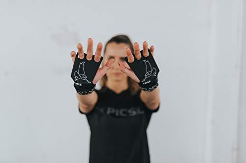 PICSIL Calleras Eagle para Cross Training 2 Agujeros Agarre y Protector de Mano o Guantes para Gimnasia Unisex para Hombres y Mujeres en Deportes de Fitness Calistenia Halterofilia (Talla M)