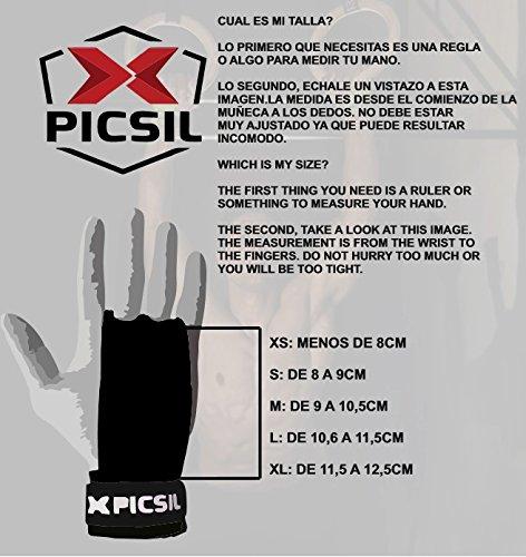 PICSIL Calleras Falcon para Cross Training Grips 2 Agujeros Agarre y Protector de Mano o Guantes para Gimnasia Unisex para Hombres y Mujeres en Deportes de Fitness Halterofilia (Talla M, 2H)