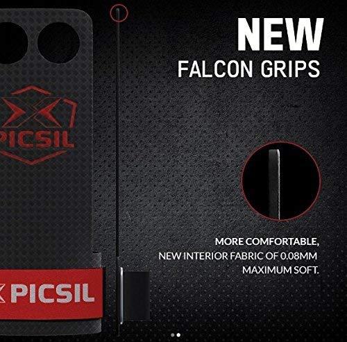PICSIL Calleras Falcon para Cross Training Grips 2 Agujeros Agarre y Protector de Mano o Guantes para Gimnasia Unisex para Hombres y Mujeres en Deportes de Fitness Halterofilia (Talla L, 2H)
