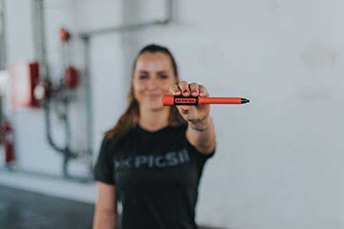 PicSil Sphinx Rope Cuerda de Saltar Ligera 28grs de Plástico Resistente y Duradero Cable Ajustable para Alta Velocidad orientada Profesionales Hombres y Mujeres del Fitness y Cross Training(Rojo)