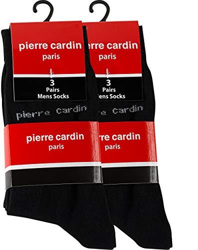 Pierre Cardin® - 6 pares de calcetines de algodón de vestir para hombre, 39-42