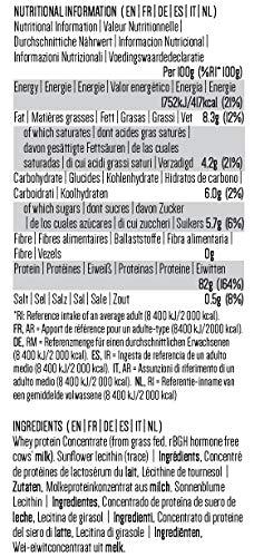 PINK SUN Concentrado de Proteína de Suero 1kg Hierba alimentada sin Hormonas Neutro sin Sabor sin Gluten sin Soja Everyday Whey Protein Concentrate Powder (82% protein) Grass fed Unflavoured 1000g