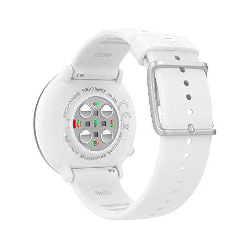 Polar Ignite – Reloj de fitness con GPS integrado, pulsómetro de muñeca, guías de entrenamiento -  hombre/mujer-  blanco M/L