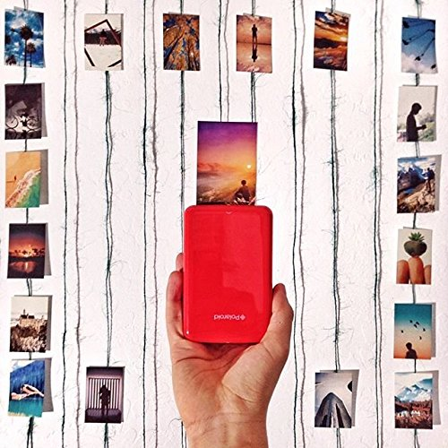 Polaroid Zip - Impresora móvil, Bluetooth, Nfc, micro USB, tecnología Zink Zero Ink, 5 x 7.6 cm, compatible con iOS y Android, rojo, 2.2 x 7.4 x 12 cm