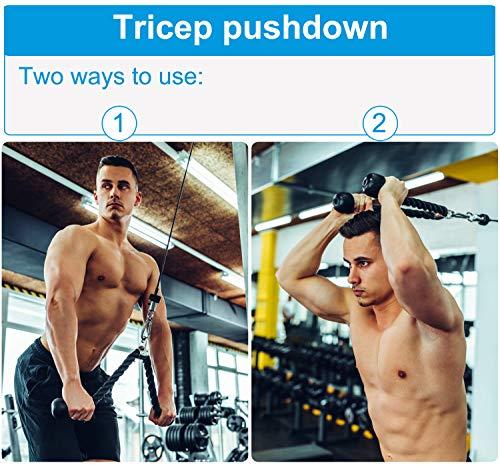 Polea de musculación con cuerda de punto, peso máximo 50 kg para ejercicio delantero y brazo, hombros Deltoides