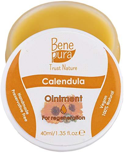 Pomada natural de caléndula 40 ml – extracto de aceite frío – 100% natural – cicatriza heridas, moretones, quemaduras – concentrado puro natural – hecho a mano en EU