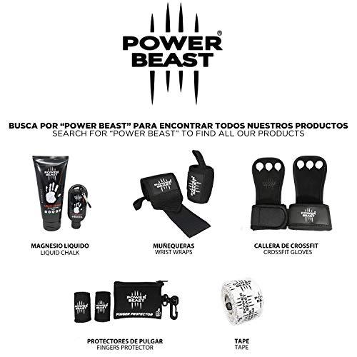 Power Beast Protector Dedo   Pesas, Crossfit, Gimnasio, Fitness, Calistenia, Halterofilia, Dominadas   Funda sustituta del Tape, Vendas, Cinta y Esparadrapo Deportivo en el Pulgar   1 Par + Bolsa (M)