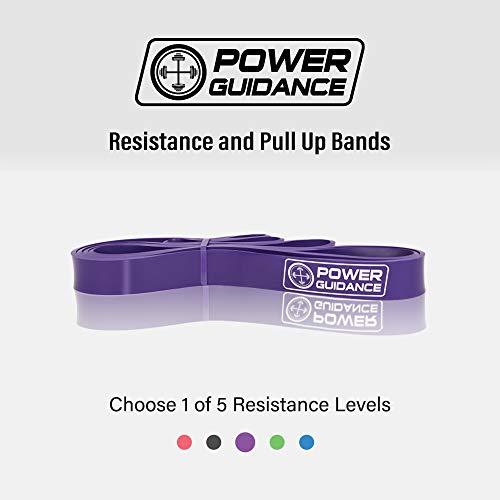 POWER GUIDANCE Bandas elásticas de resistencia - Pull Up ejercicio de la aptitud del entrenamiento Bandas Aparatos de gimnasia Inicio,Para yoga,pilates o rehabilitación -Mayor fuerza y movilidad- 100% Látex natural