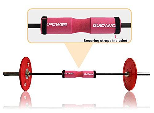 POWER GUIDANCE Barbell Squat Pad Protectora del Cuello y del Hombro Ideal para Squats, Lunges, Hip Thrusts, Levantamiento de Pesas