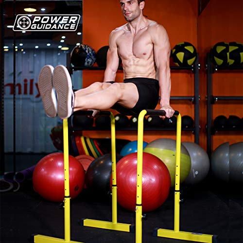 POWER GUIDANCE Barras Paralelas para Entrenamiento Ajustable para Calistenia, Gimnasia, Fitness