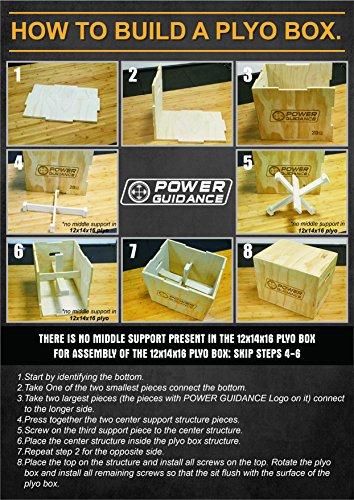 POWER GUIDANCE Caja pliométrica de madera 3 en 1 - Ideal para entrenamiento cruzado - 60/50/45CM, Caja, Plyo Caja de madera, Plyo Box