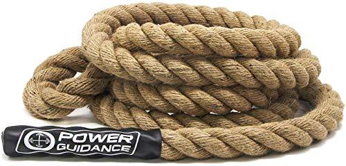 POWER GUIDANCE Cuerda de Escalada Profesional Climbing Rope Resistente, 38 mm de Diámetro(4m)