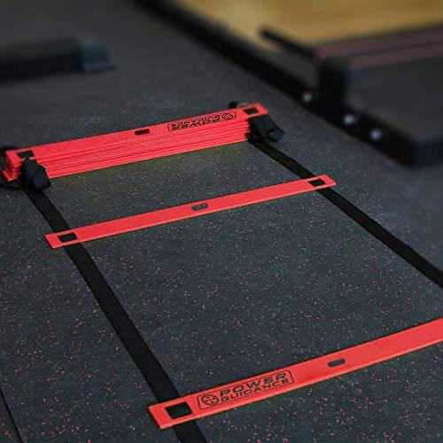POWER GUIDANCE Escalera de Velocidad Escalera de Agilidad 6m para Fútbol Baloncesto Tenis Fitness Entrenamiento (10 Conos,Bolsa de Transporte)