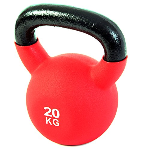POWRX - Kettlebell Hierro Fundido 4-30 kg - Pesa Rusa con Revestimiento de Neopreno (20 kg)