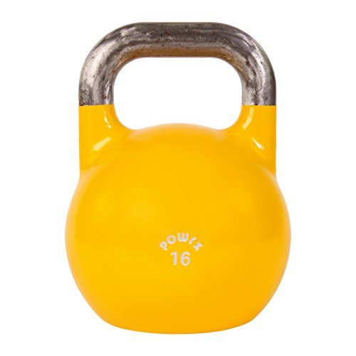 POWRX Kettlebell Pesa Rusa Competición 4-28 kg + PDF Workout (16 kg)