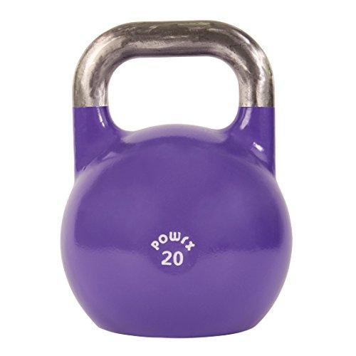 POWRX Kettlebell Pesa Rusa Competición 4-28 kg + PDF Workout (20 kg)
