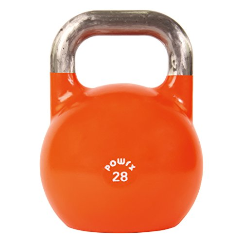 POWRX Kettlebell Pesa Rusa Competición 4-28 kg + PDF Workout (28 kg)