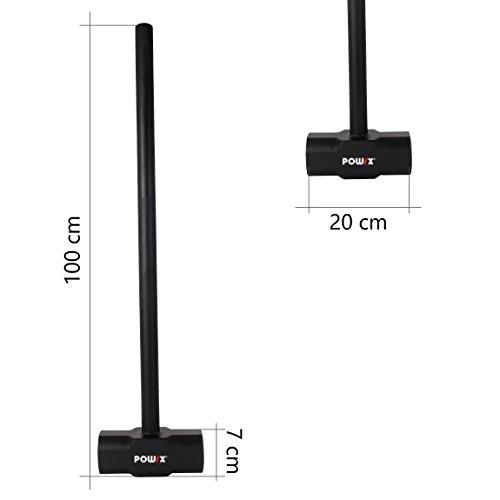 POWRX Martillo de Entrenamiento 6-30 kg - (6 kg/Negro)