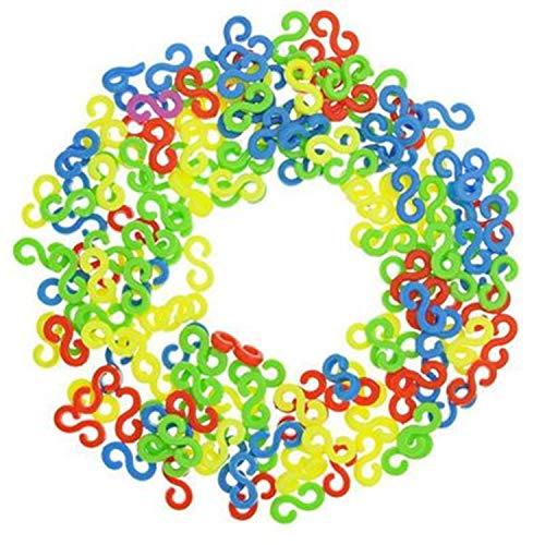 PPX 200 Piezas Loom Bands Telar S Clips del Arco Iris de Colores Refill S-Clips Compatibles con Conexión Pulseras de la Joyería Que Hace la Herramienta Telar Band Kit de Pulseras de Goma