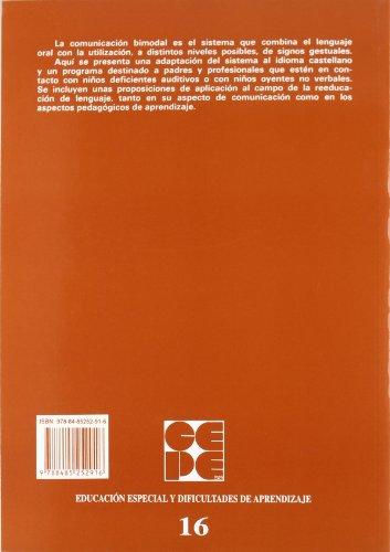Programa Elemental de Comunicación Bimodal. Para padres y educadores: 16 (Educación especial y dificultades de aprendizaje)