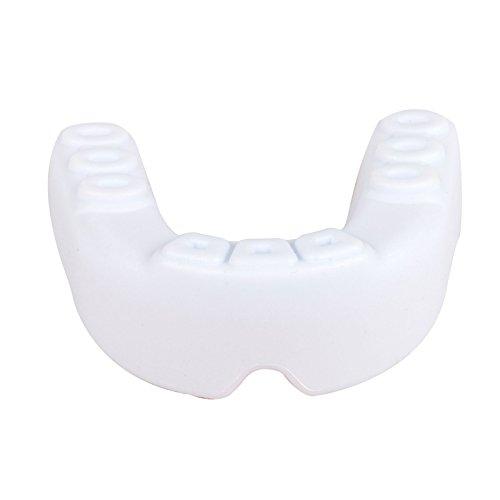 Protector de boca, dientes pantalla con material de silicona médica Fit para MMA/boxeo Rugby/bandera/fútbol/lacrosse/Baloncesto/Grinding dientes, blanco y rojo