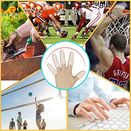 Protectores de dedos de gel (14 piezas), Nuevo Material, Mangas de dedo, Ideal para dedo gatito, Eccema de Manos, Agrietamiento de dedos, Artritis de dedos y más.(Piel)