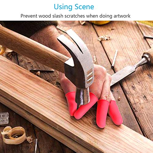 Protectores de silicona para los dedos,ZERHOK,15 pcs,silicona Finger Cots,cots finger silicona para proteger los dedos en DIY y artesanía.