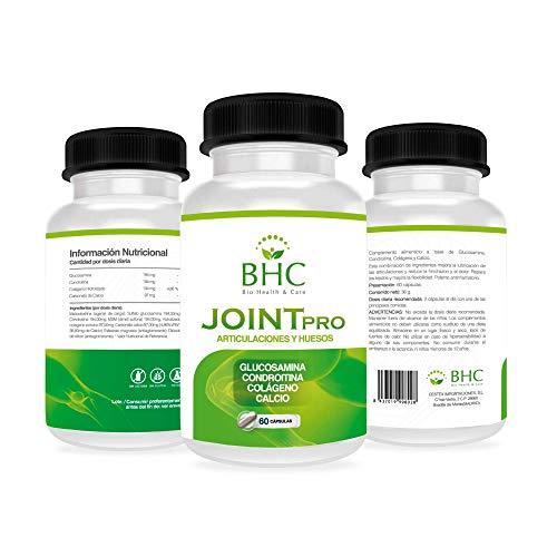 Protege y repara Articulaciones y Músculos   Elimina el Dolor, la Inflamación y Previene Lesiones   Acción Antiinflamatoria y Analgésica   Glucosamina + Condroitina + Colágeno + Calcio   60 Caps.