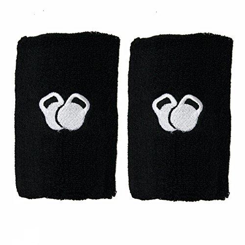 PROTONE® Pesa Rusa Muñeca y Brazo Protector - Par con Fino Diseño con protección Inserción para Protección - Negro, One Size