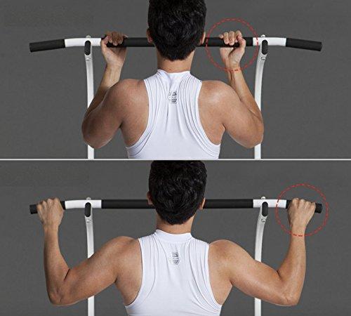 Pull up Fitness - Barra de tracción Ajustable para musculación multifunción, Color Blanco/Negro, tamaño Talla única, 107 x 38 x 9centimeters