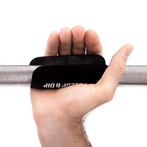 PULLUP & DIP Fitness Grip Pads [Juego de 4] para Dominadas, Culturismo y Entrenamiento de Fuerza, 2 Pares de Almohadillas de Agarre de Neopreno, Alternativa a Los Guantes de Entrenamiento