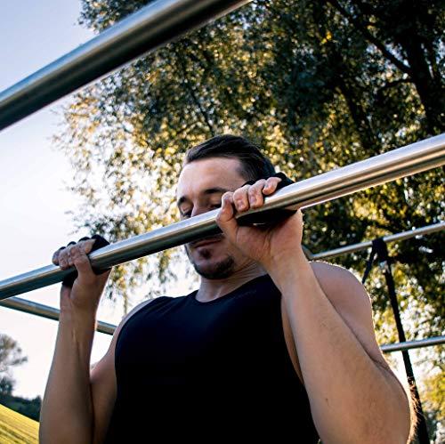 PULLUP & DIP Guantes De Agarre Fitness, Musculación, 1 Par De Almohadillas De Agarre De Neopreno, Almohadillas De Entrenamiento como Alternativa A Los Guantes De Entrenamiento para Un Agarre Máximo