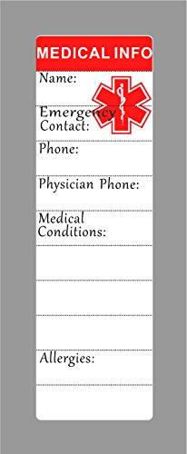 Pulsera de alerta médica para hombres, para mujer, ID, brazalete, elástico, acero inoxidable, personalizado (Ponga los detalles en la sección Levantar, tarjeta médica personalizada + tiras gratis)
