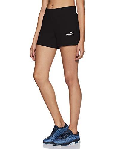 PUMA ESS Sweat Shorts TR Pants, Mujer, Cotton Black, M