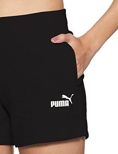 PUMA ESS Sweat Shorts TR Pants, Mujer, Cotton Black, M