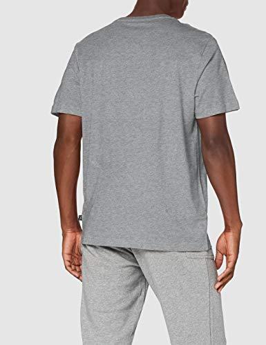 Puma Essentials LG T Camiseta de Manga Corta, Hombre, Gris (Medium Gray Heather), XXL