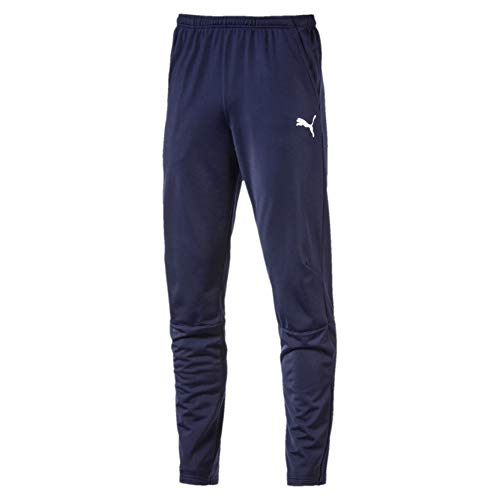 Puma Liga Trainings Pantalones, Hombre, Azul (Peacoat White), M