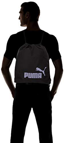 Puma Phase Gym Sack Bolsa De Cuerdas, Unisex Adulto, Black/Sweet Lavender, OSFA