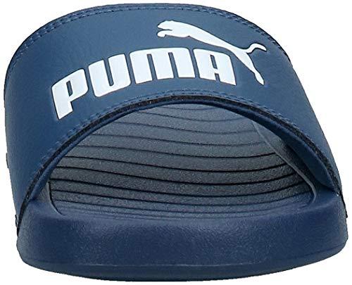 PUMA Popcat 20, Sandalias deslizantes Unisex Adulto, Azul (Dark Denim White), 42 EU
