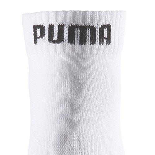 Puma Quarter Plain, Calcetín Unisex Adulto, Blanco (White), 43-46, (Pack de 3)