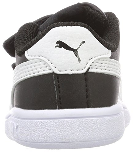 Puma Smash V2 L V Inf, Zapatillas Unisex Niños, Negro Black White, 20 EU