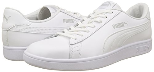 PUMA Smash V2 L, Zapatillas para Hombre, Blanco White White, 44 EU