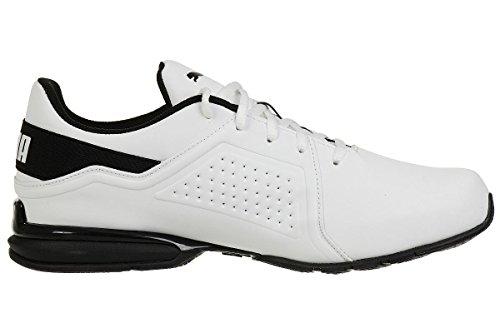 PUMA Viz Runner, Zapatillas de Running para Hombre, Blanco White Black, 43 EU