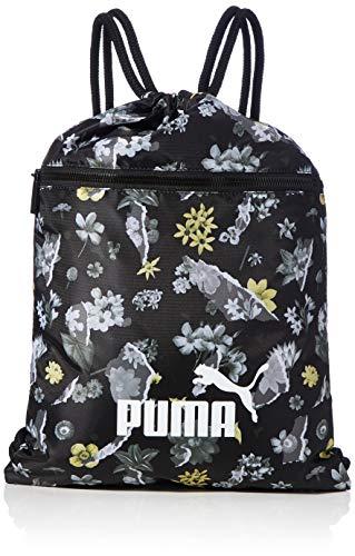 PUMA WMN Core Seasonal Gym Sack Bolsa De Cuerdas, Mujer, Black/AOP, OSFA