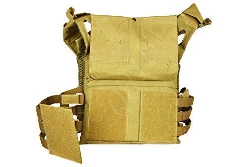 QHIU Chaleco Tácticos Ligero Militar Combate Camo Protección Molle Extraíble Placas para Airsoft Paintball Caza CS SWAT Juego de Guerra Deportes al Aire Libre
