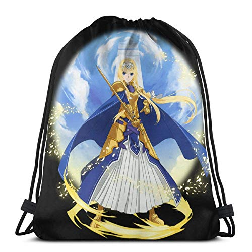 QiangQ Bolso con cordón Drawstring Bag Sport Gym Sack Party Favor Bags Wrapping Gift Bag Drawstring Backpacks Storage Goodie Bags Cinch Bags - Alice Schuberg Alice Zuberg