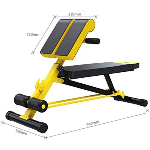 Qinmo Formación de fuerza Pesas Barbell conjunto amarillo de múltiples funciones de fitness Silla Abdominales Home Fitness Equipment Dumbbell Bench, Home Fitness Equipment ajustable plano inclinado De