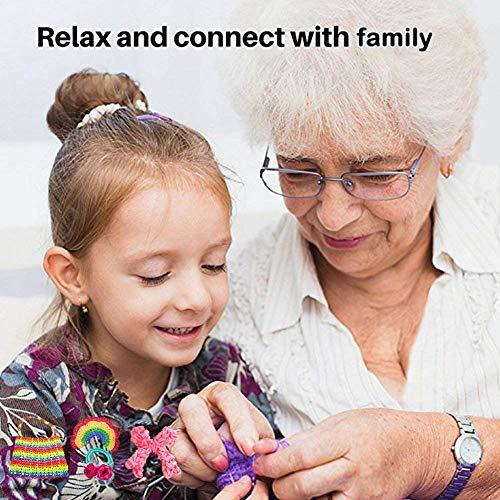 Queta 4400 DIY Bandas de Ggoma Cintas de Telar Caja Caja de Almacenamiento Pulsera Collar Herramienta de Tejer Juguetes para Niños